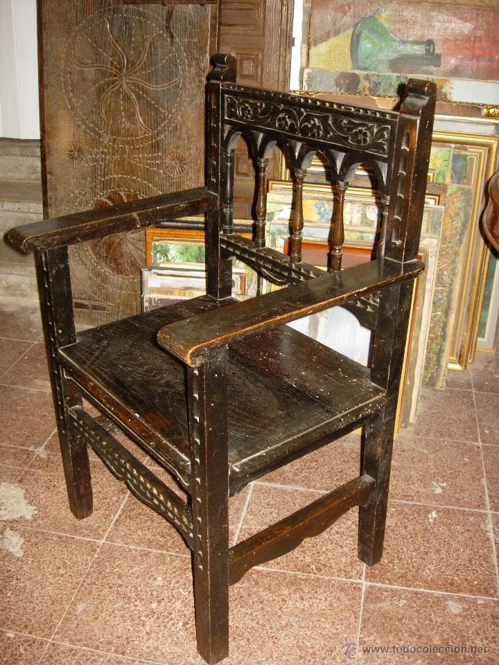 2 sillones a o 1880 alfonsinos estilo renacimiento madera ebonizada coleccion muebles - Muebles estilo antiguo ...