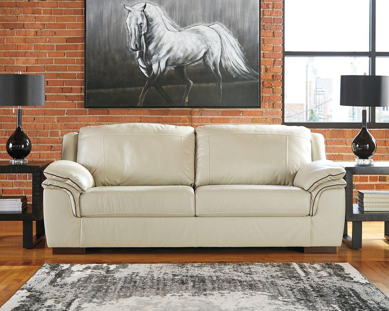 Surprising Islebrook Sofa Vanilla Leather Products Sofa Cream Spiritservingveterans Wood Chair Design Ideas Spiritservingveteransorg
