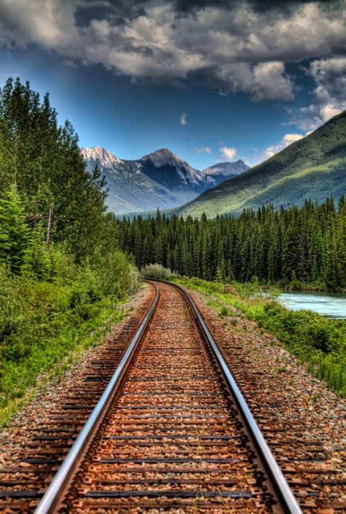 "brutalgeneration: "" Banff Railroad Mountain View (by steve_widen) """