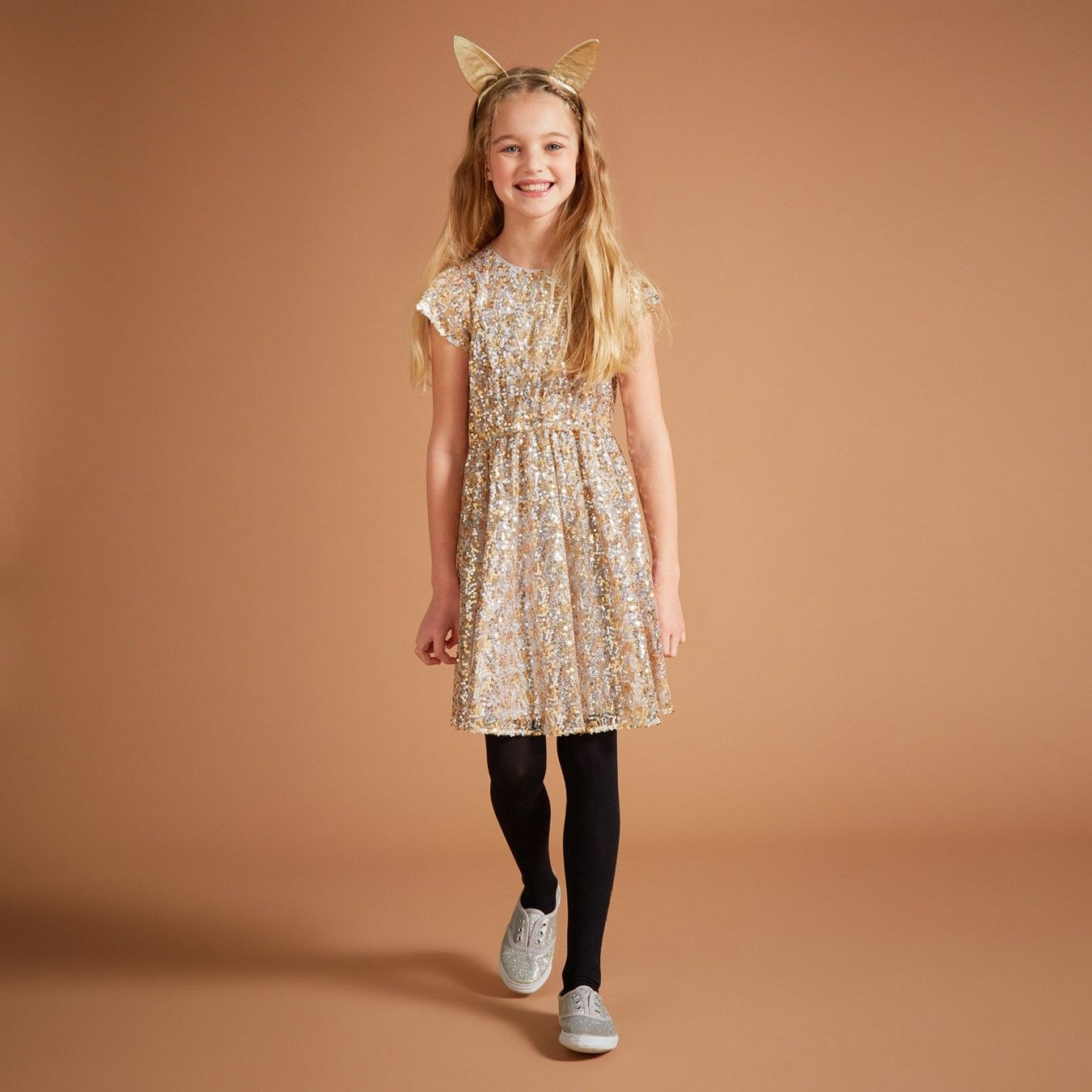 @ilovegorgeous Wonder Dress - Gold/Silver -  Was £95 Now £76 #blackfriday #bestofblackfriday #girlswear #ilovegorgeous #dress Offer ends 30th November 2015