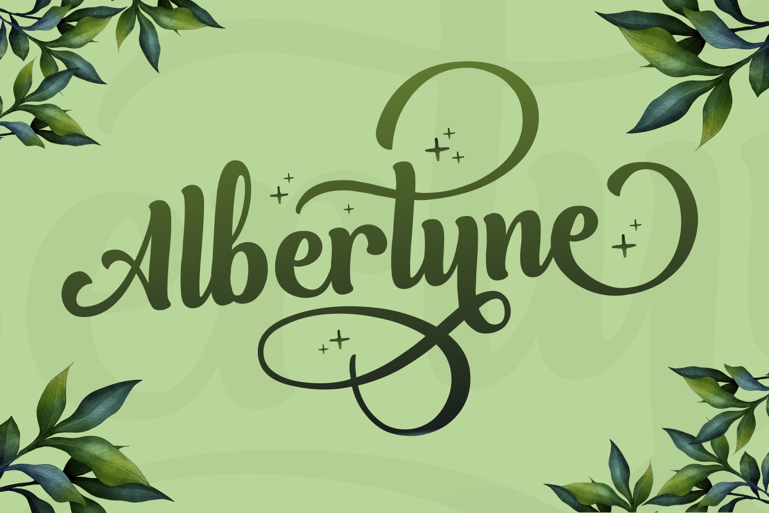 Albertyne Font By Kelik 7ntypes Creative Fabrica In 2020 Cool Fonts Business Card Logo Premium Fonts