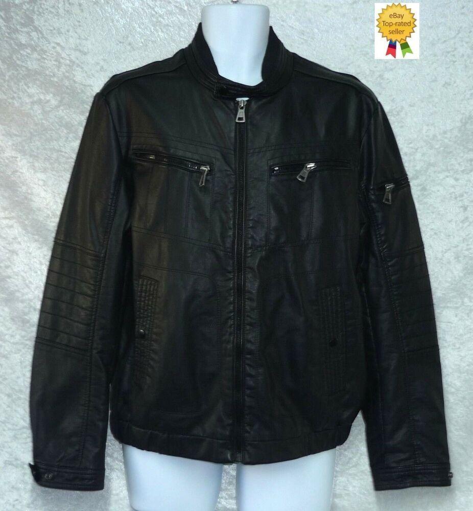 New Inc International Concepts Men S Moto Jacket Black Size M Incinternationalconcepts Mot In 2020 Faux Leather Moto Jacket Black Pants Men Casual Long Sleeve Shirts [ 1000 x 926 Pixel ]
