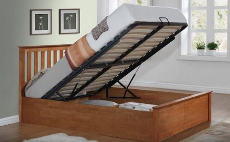 Phoenix Oak Wooden Ottoman Bed Double | Beds | Pinterest | Cama ...