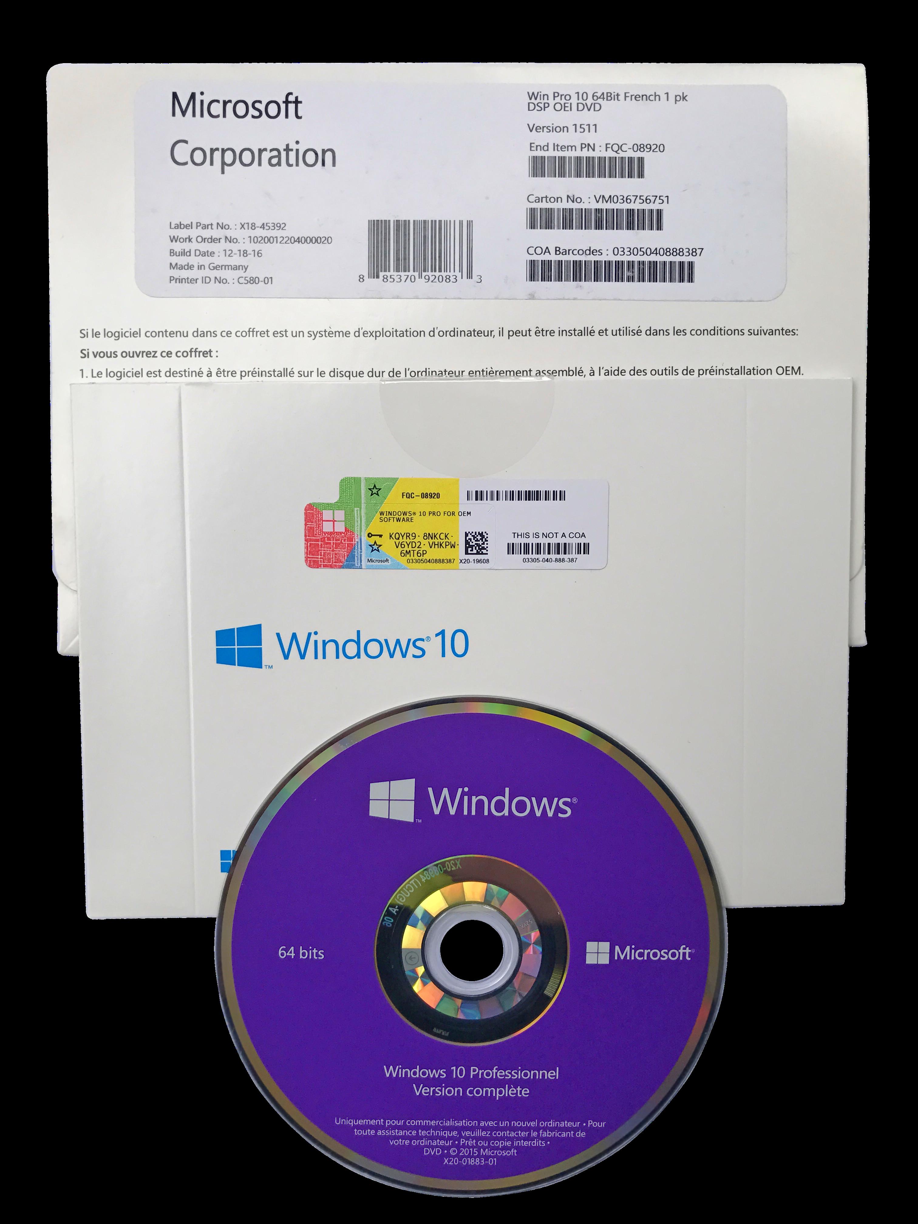 microsoft windows 10 professional oem 32 bit