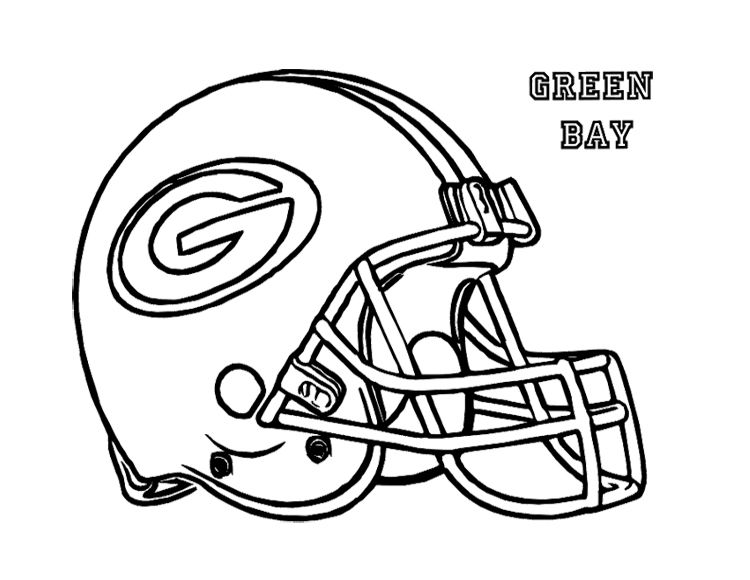 Football Helmet Green Bay Packers Coloring Page For Kids | Kids ...