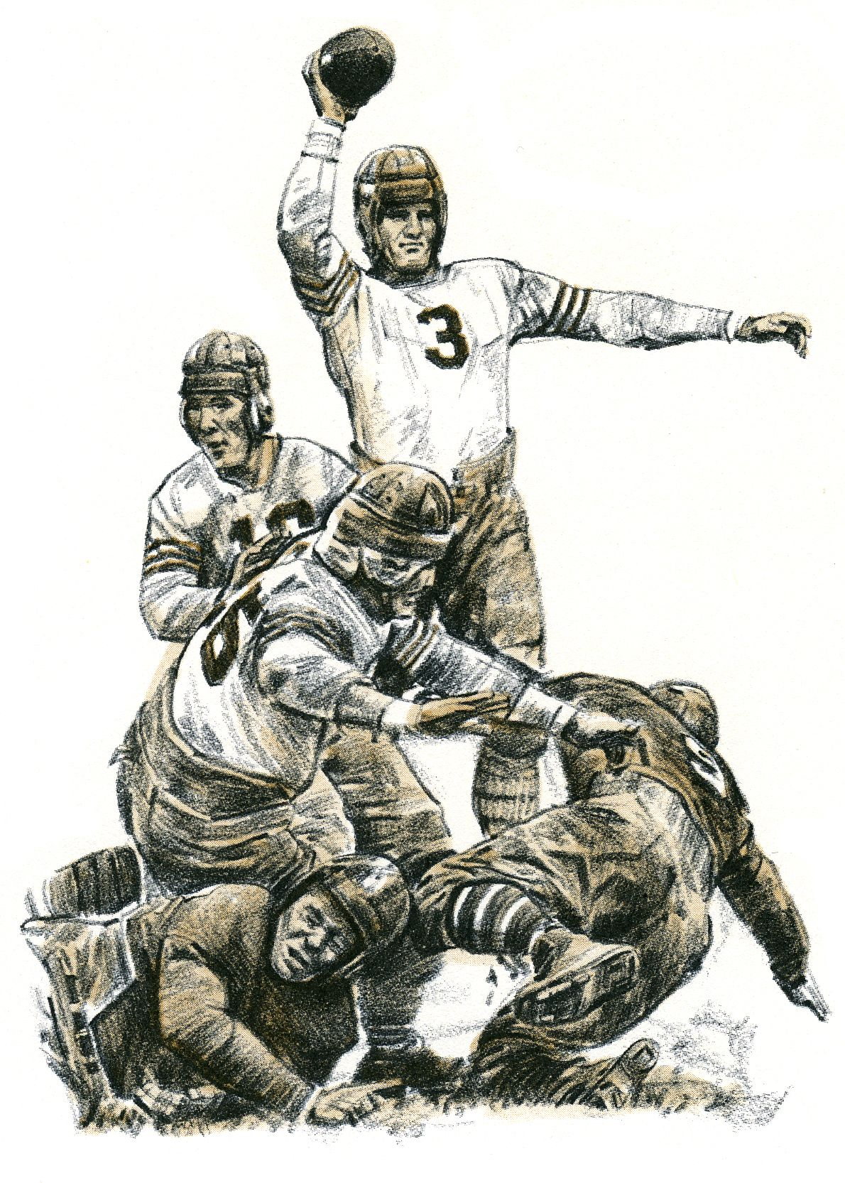 Bronko Nagurski of the Chicago Bears by Robert Riger.