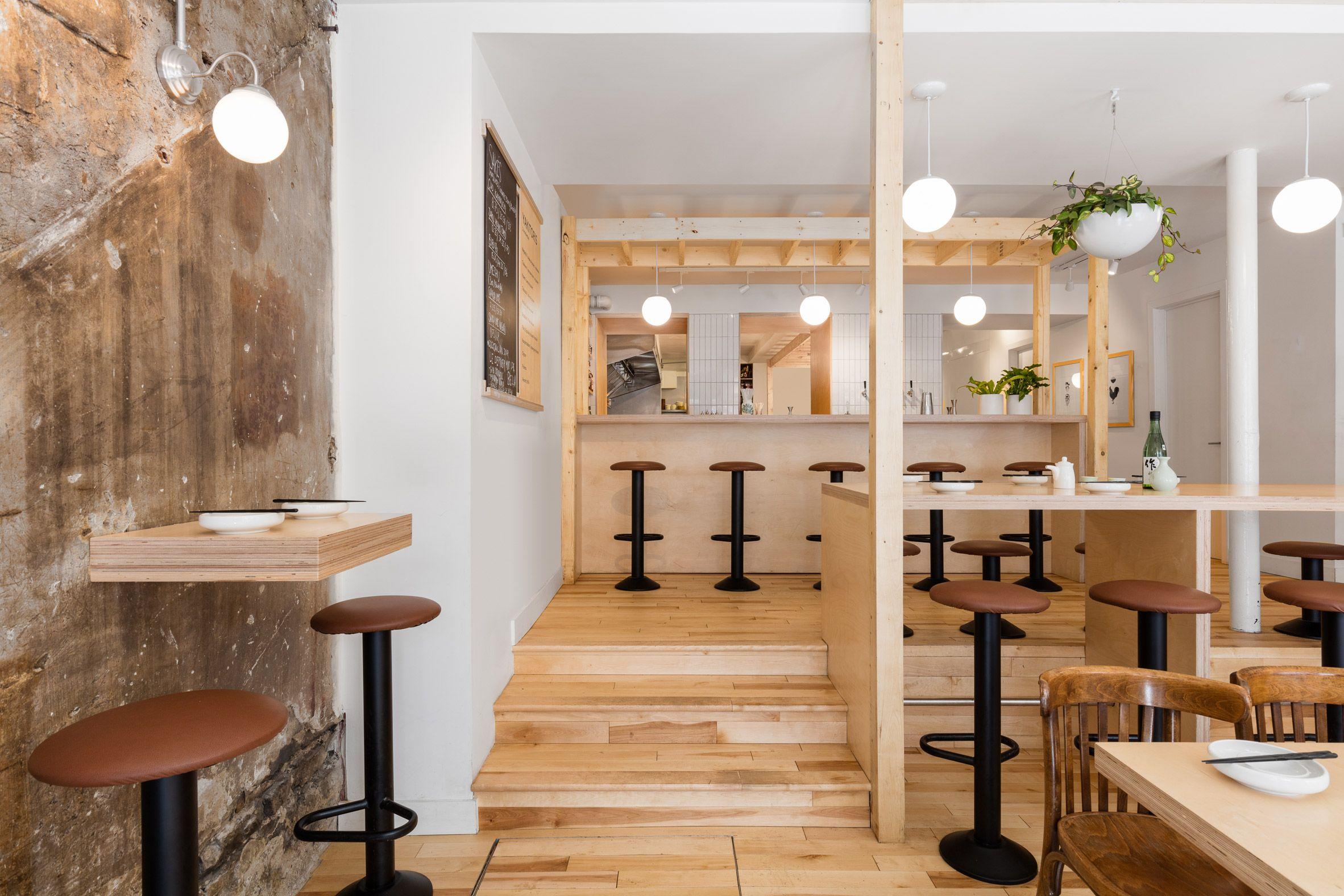 Japanese Restaurant Combines Minimal Details And Unfinished Surfaces Japanese Restaurant Design Izakaya Restaurant Interior