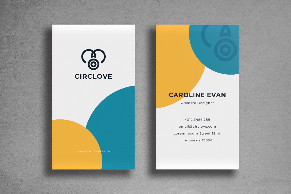 Business Card Simple Circle Template Business Card Template Design Business Cards Simple Business Card Design