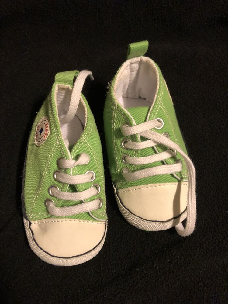 Lime Green Converse Infant Size 8-12