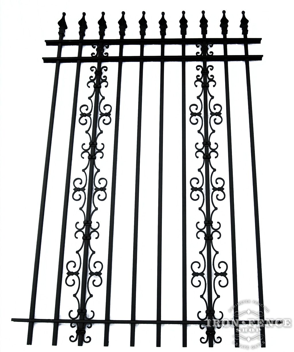 Aluminum Fence Vs Wrought Iron Cost In 2020 Iron Fence Panels