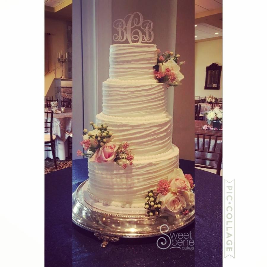 Slanted spring wedding cake by sweet scene cakes cakesdecor
