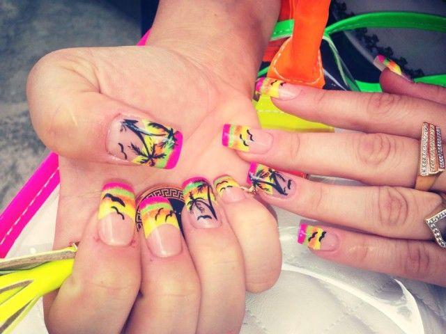 20 Sunset Nail Design Ideas Become A Nail Tecnician Httpwww