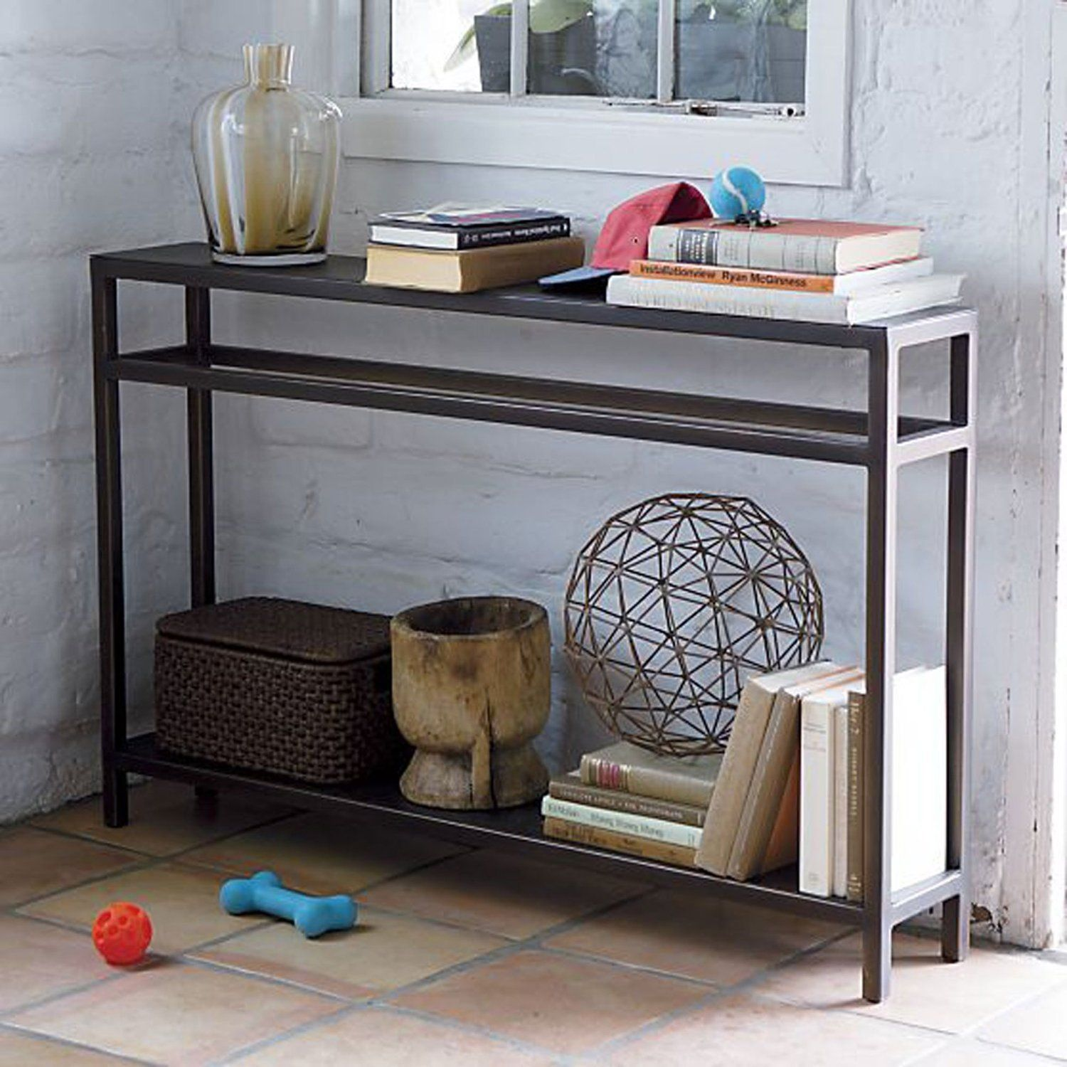 10 Slim Console Tables That Are Perfect For Small Spaces Outdoor Console Table Narrow Console Table Slim Console Table