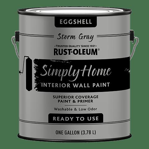 RustOleum Simply Home Interior Eggshell Dark Taupe Wall