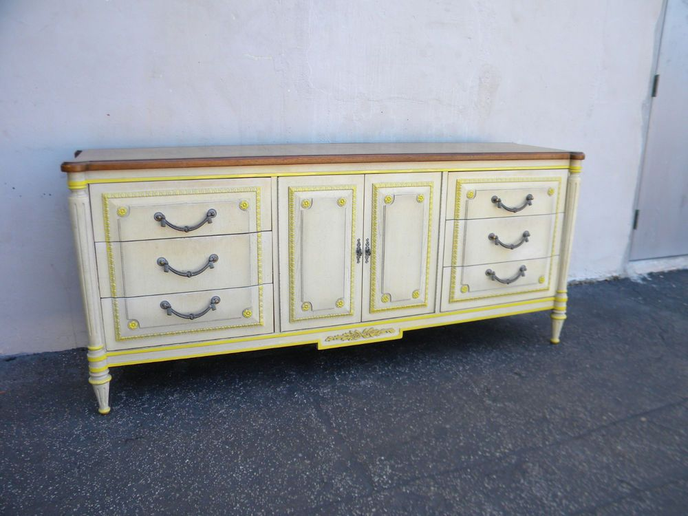 Long French Parquet Painted Dresser By Vanleigh 5354