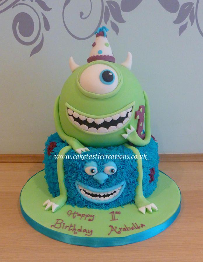 Cool Monsters University 1St Birthday Cake Cake Monster Inc Cakes Funny Birthday Cards Online Kookostrdamsfinfo