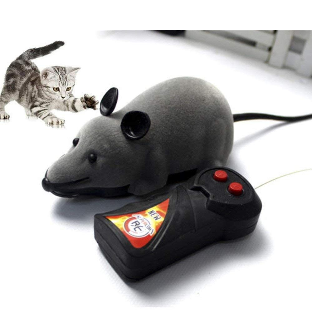 Mouse Cat Toy Wireless Remote Control Mock Fake Rat Mouse Mice RC Toy Prank