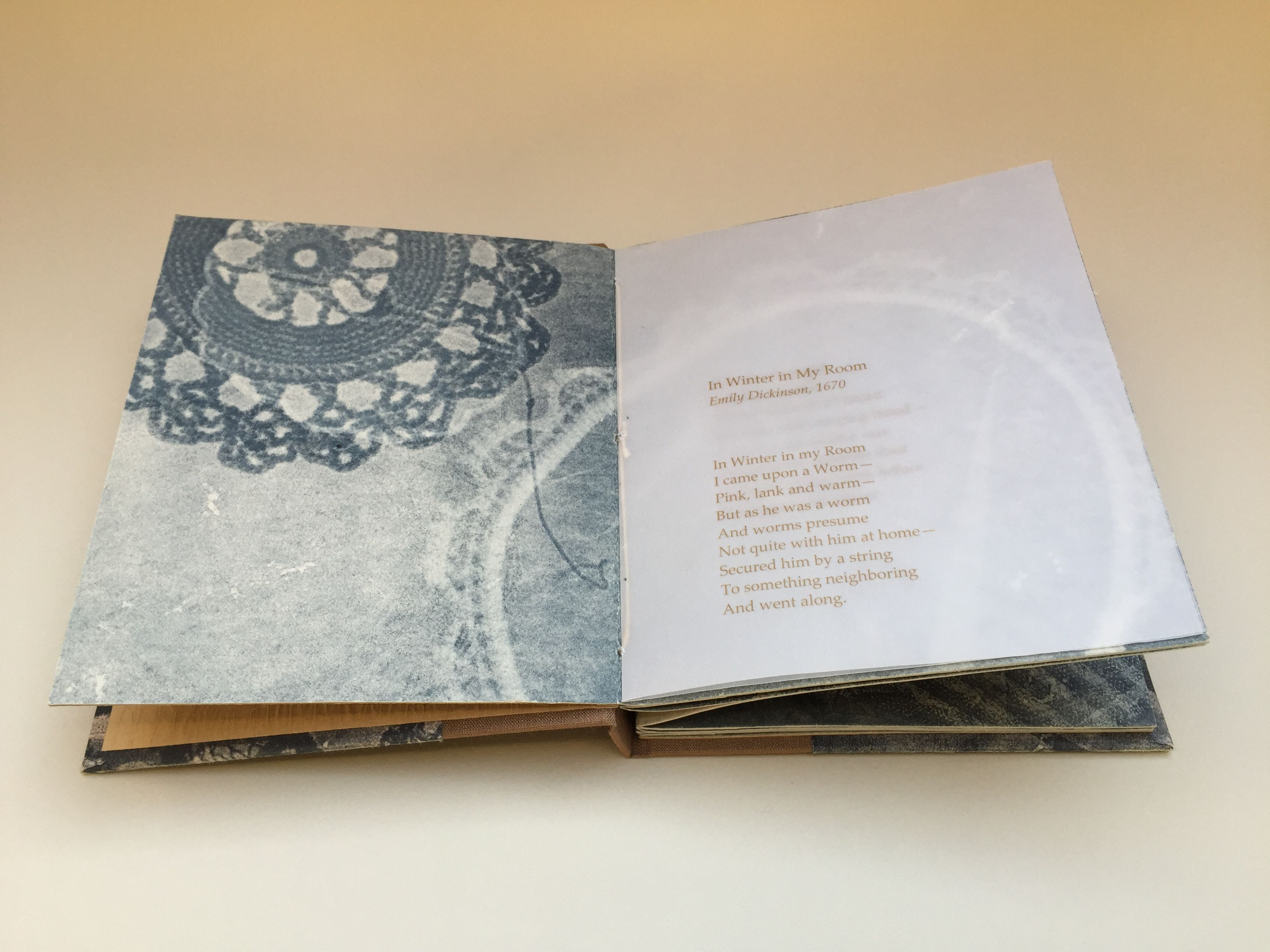 Quotin Winter In My Roomquot Handmade Artist Book Containing