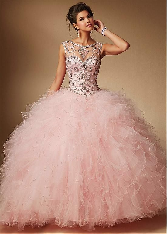 Buy discount Brilliant Tulle & Satin Bateau Neckline Ball Gown ...