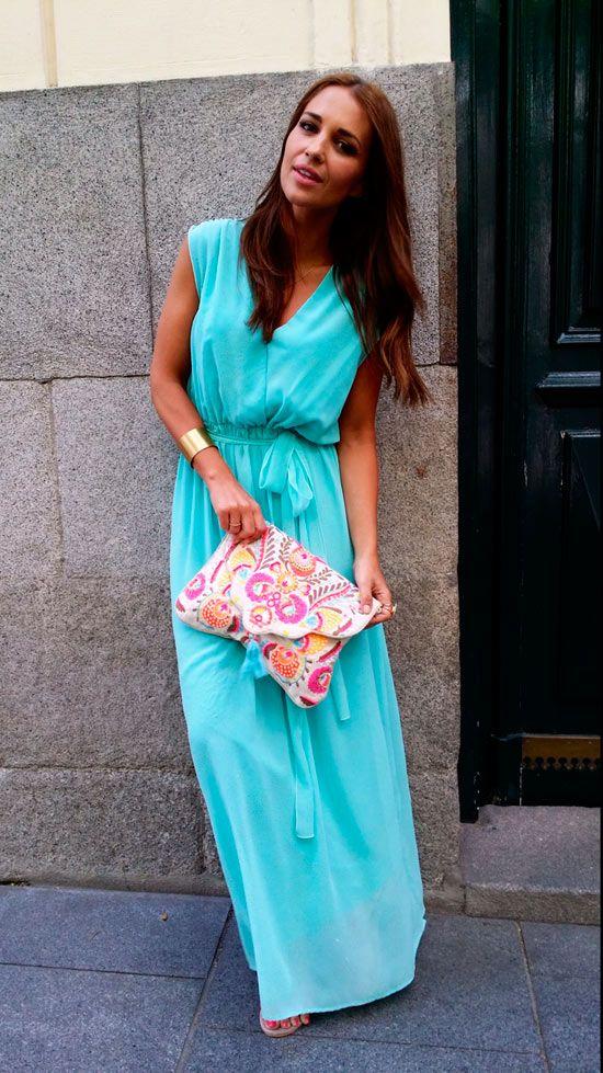Vestido turquesa dolores promesas heaven de paula for Que color asociar con el azul turquesa