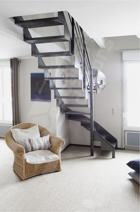 Photo Dt77 Esca 39 Droit 1 4 Tournant Interm Diaire Escalier D 39 Int Rieur M Tallique Au Design