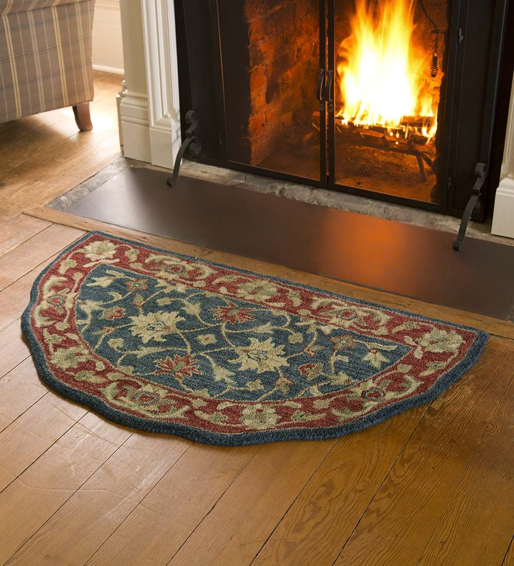 Elizabeth Fl Wool Half Round Rug Accent Rugs Hearth