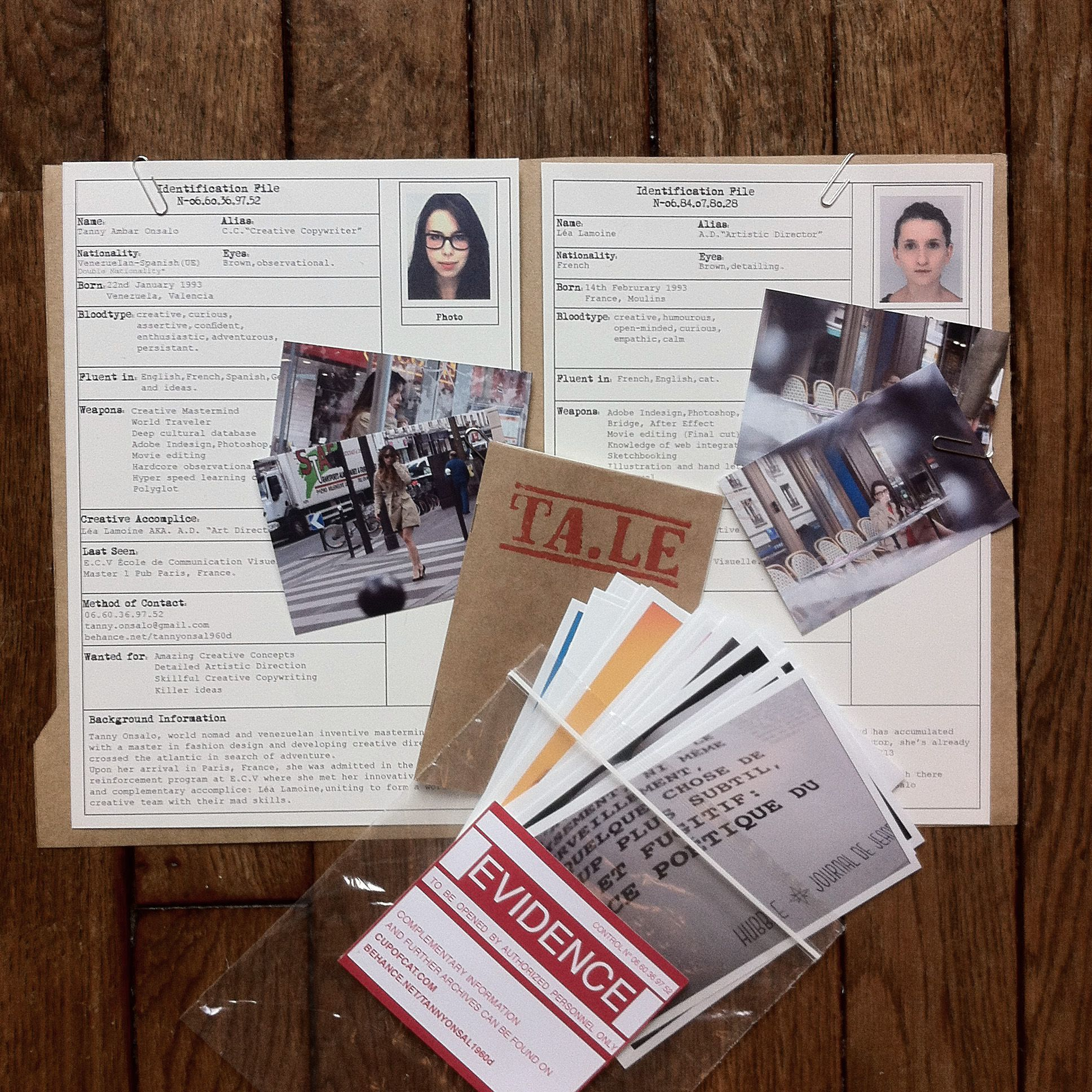 cv original dossier enquete police filature creatives team crea confidentiel