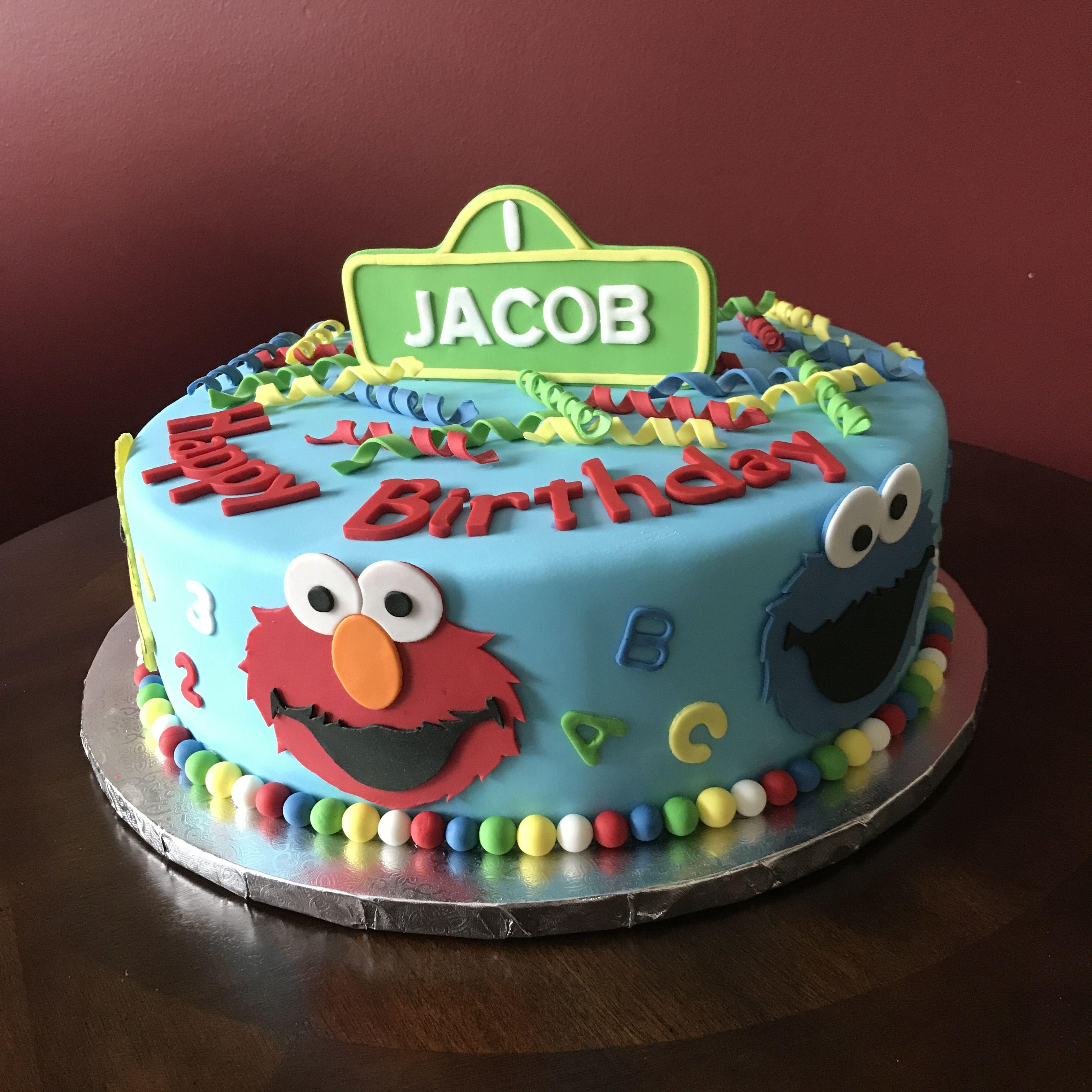 Strange Sesame Street Birthday Cake Sesame Street Birthday Cakes Elmo Personalised Birthday Cards Petedlily Jamesorg