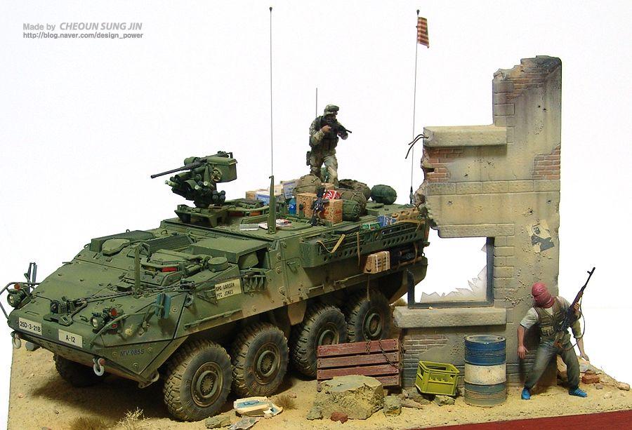 Pre Order Built Trumpeter 1/35 M1126 Stryker Infantry