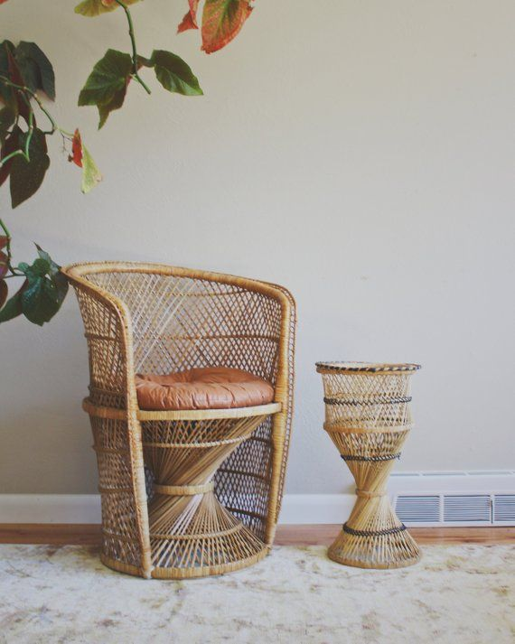 Superb Vintage Wicker Chair Adult Peacock Chair Rattan Chair Boho Gmtry Best Dining Table And Chair Ideas Images Gmtryco