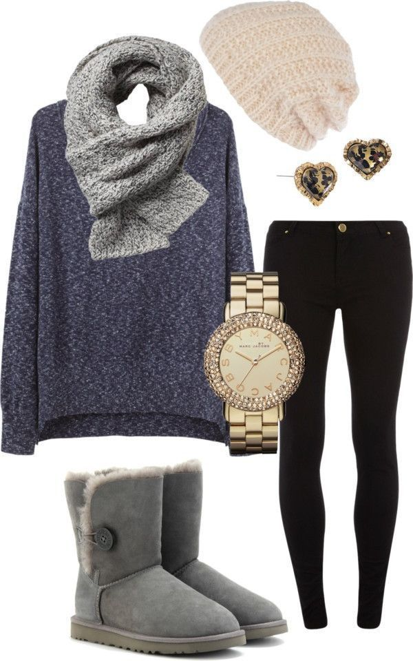 Uggs on | Casual winter outfits, Stylish outfits, Winter fashion