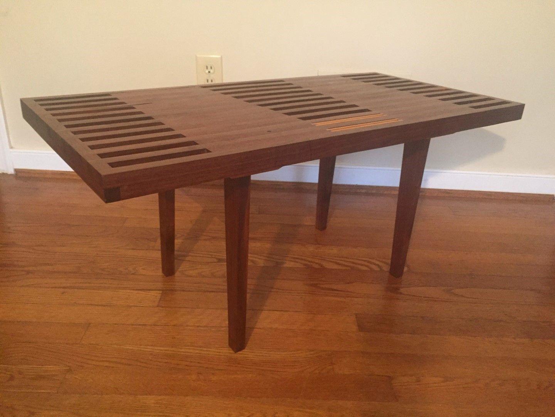 Charmant Modern Handcrafted Coffee Table Walnut Mahogany Nathaniel Newcomb