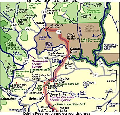 Colville Reservation Map MISC PICTURES Pinterest