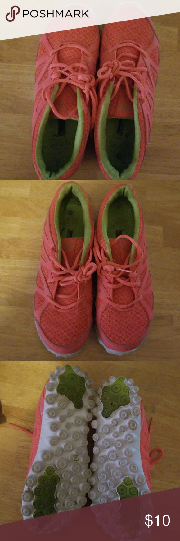 Coral colored tennis shoes   Tennis
