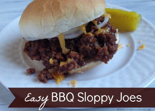 This homemade sloppy joes recipe is quick to make, and this bbq sloppy joes recipe is equally delicious! How to make sloppy joes that taste like a BBQ sandwich. Your entire family will love it!