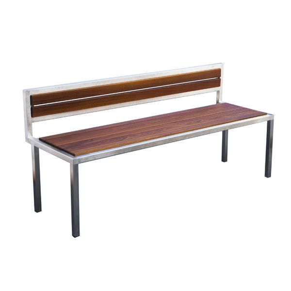Contemporary Bench With Back From The Talt Collection By Modern Outdoor Sup Commercial Outdoor Benches Modern Outdoor Furniture Contemporary Patio Furniture