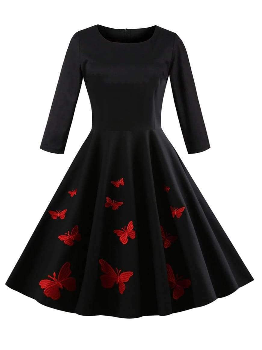 5bb725ad41b7 Butterfly Embi MB mi total e Retro Dress