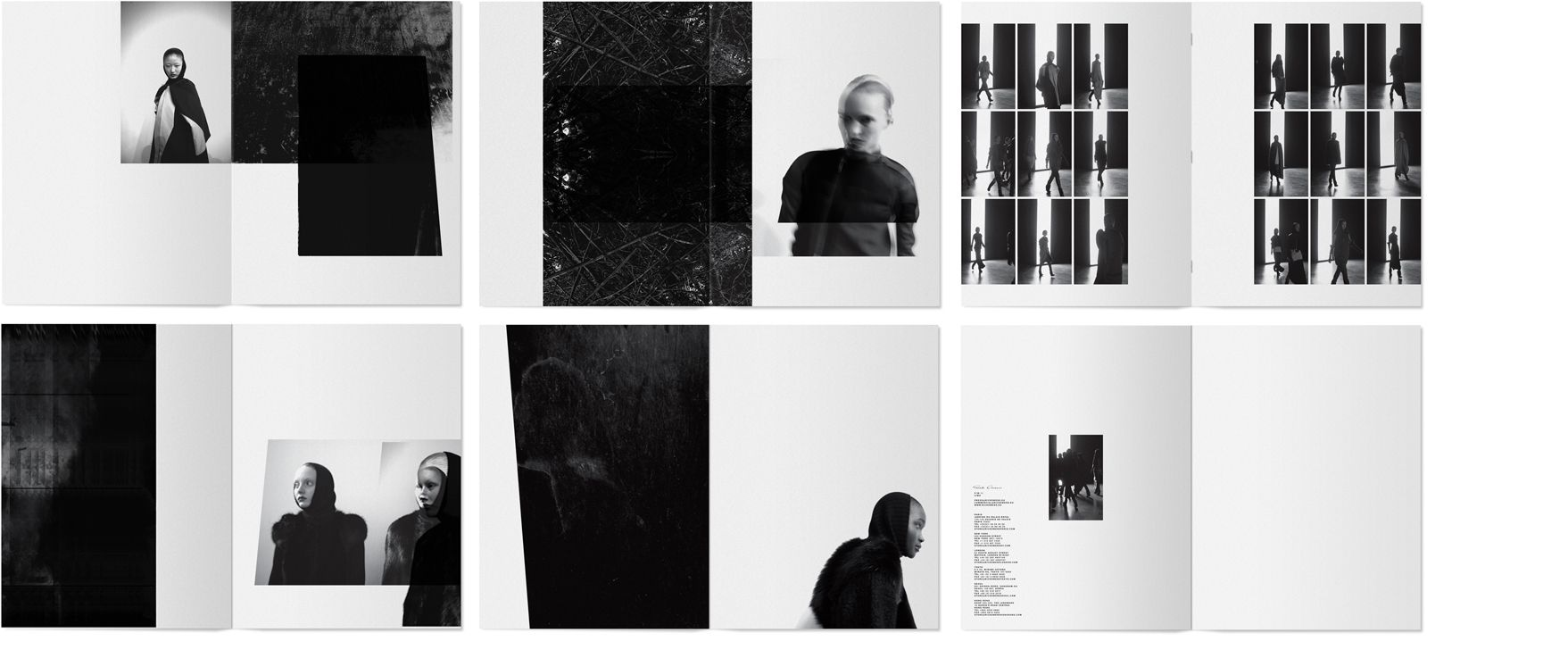 Rick Owens lookbooks by Non-Format design