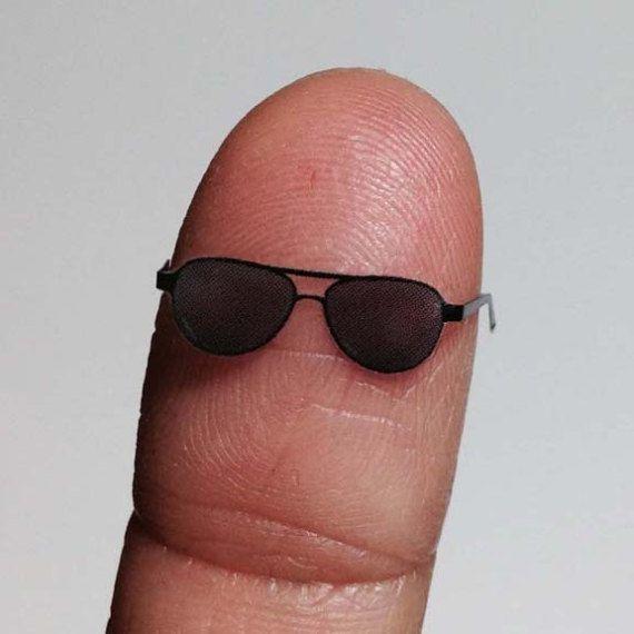 b54fe491d6 Ace Aviator Dollhouse Miniature Eyeglasses Eye wear Sunglasses 1 12 ...