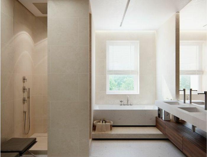 Beaucoup d\u0027idées en photos pour une salle de bain beige