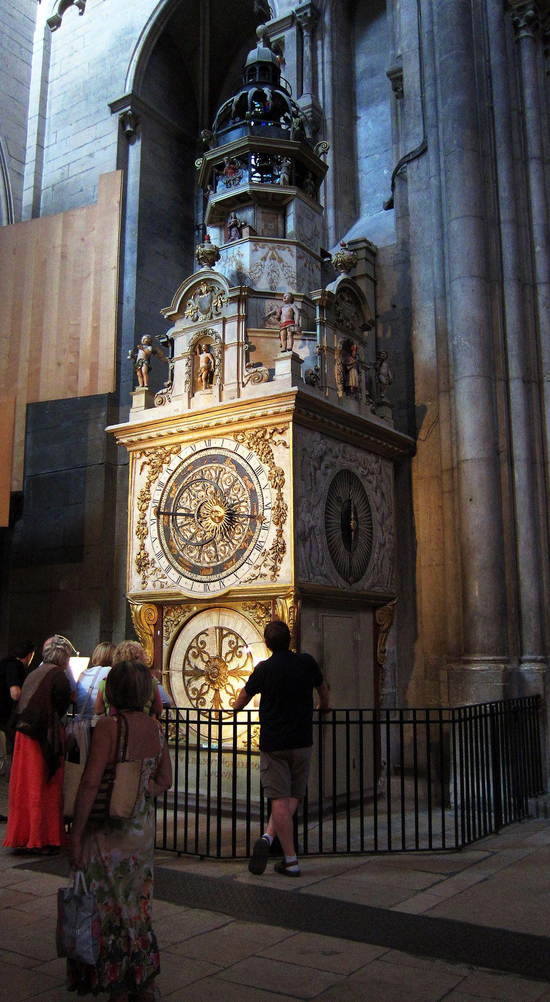 Image result for Lyon, St.-Jean Baptiste Cathedral clock