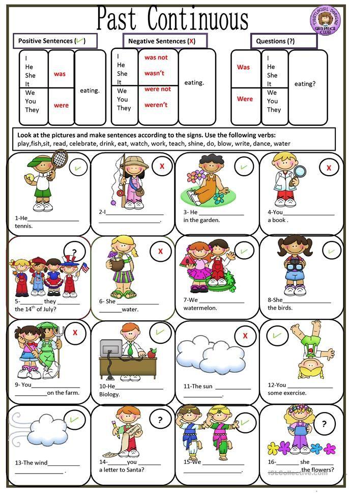 Past Continuous Material Escolar En Ingles Ejercicios De Ingles Temas De Ingles