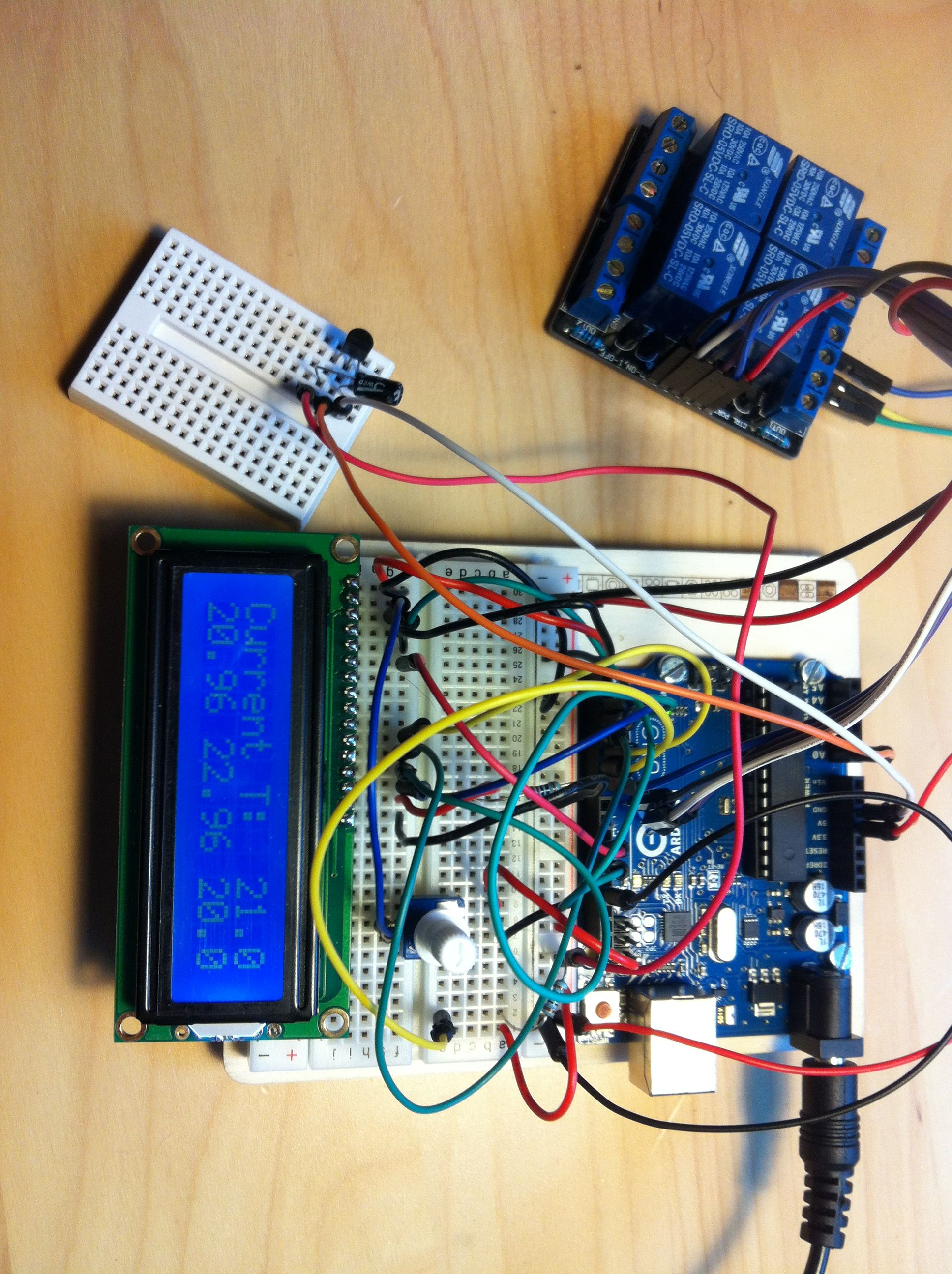 Arduino Lcd Display Temperature Sensor Plus Relay Detector Controller Circuit Electronic Projects A To Control The Fan Code Is Set Turn On At Degrees And Off 23