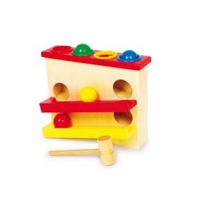 Een actief uitdagend Houten #hamerspel van gekleurde #ballen. Een grote uitdaging voor de kinderen en het ontwikkelen van hun motoriek. #speelgoed