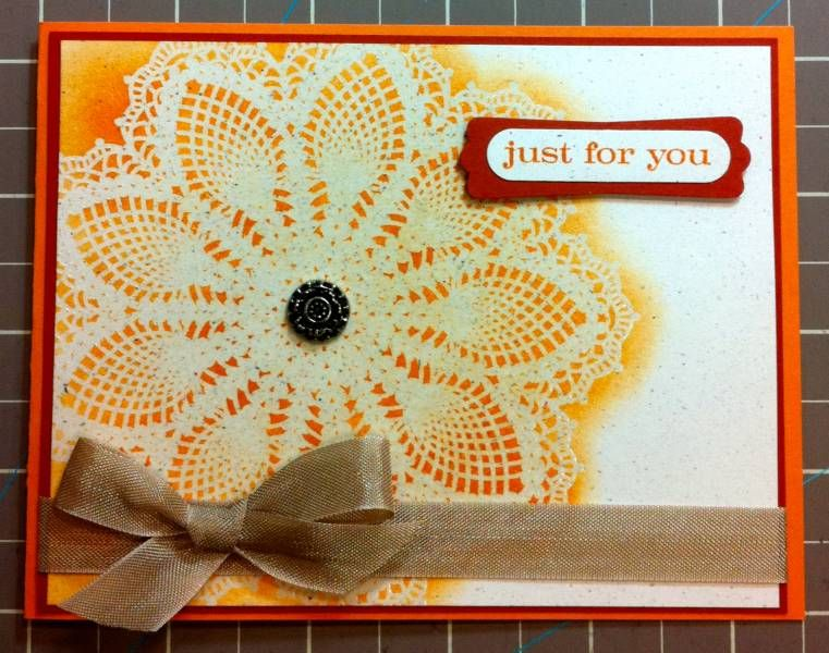 Emboss Resist Hello Doily by kperry57 - Cards and Paper Crafts at Splitcoaststampers