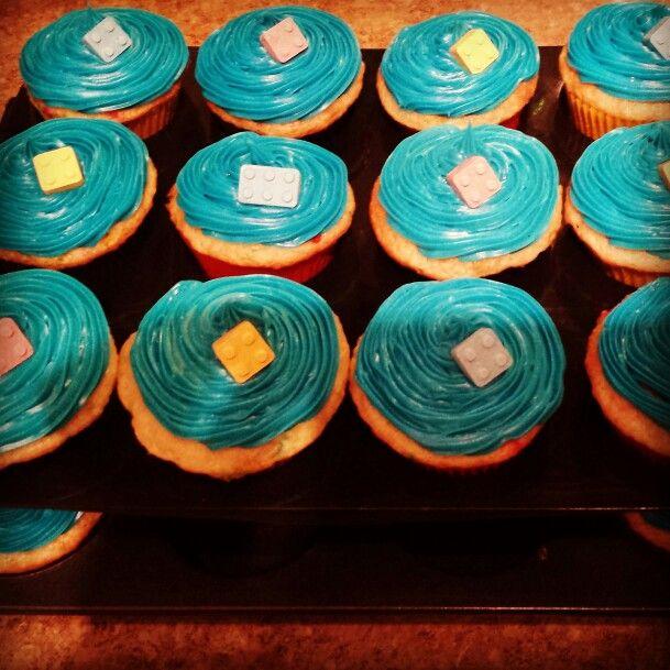 Lego birthday party cupcakes