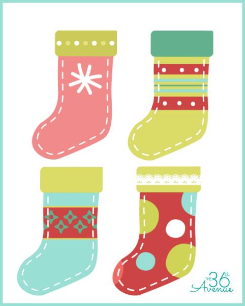 stocking decoration template  DIY Christmas Stocking Printable | Christmas stocking ...
