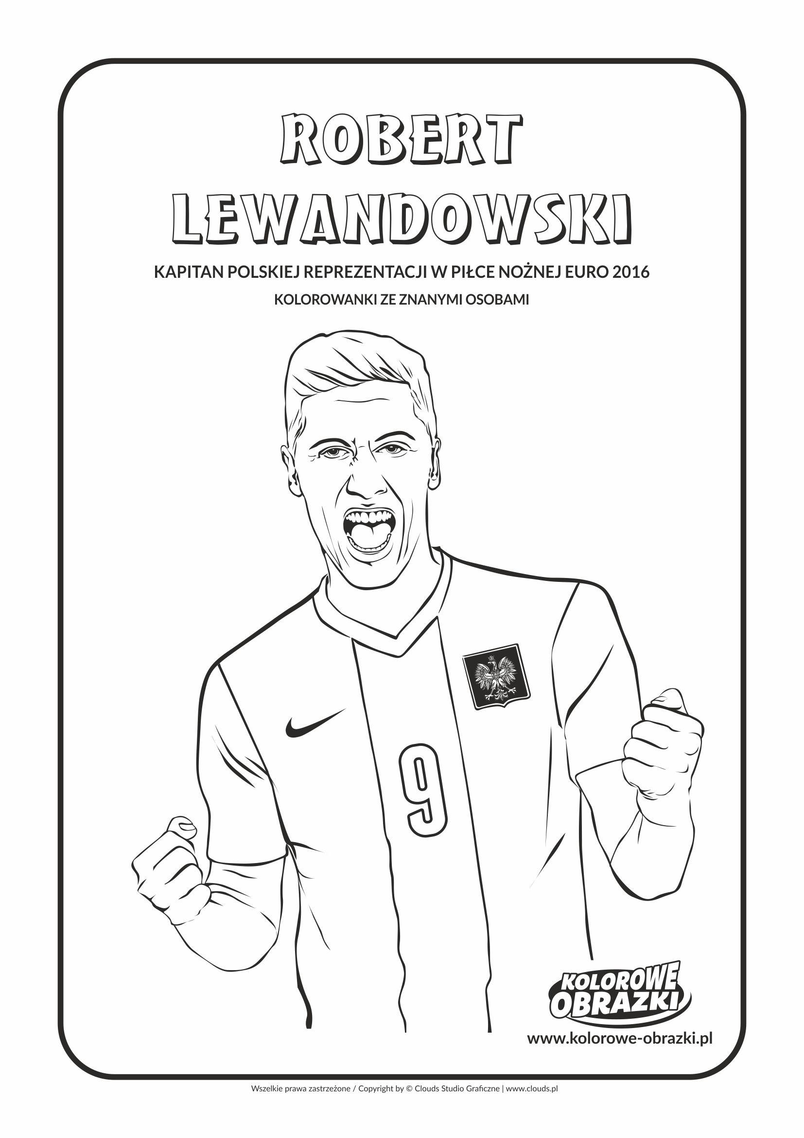 Robert Lewandowski With Images Kolorowanki Robert Lewandowski