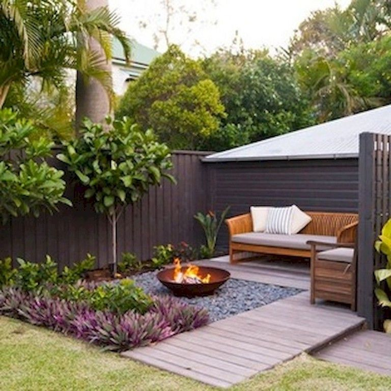 34 Modest Fire Pit and Seating Area for Backyard Landscaping Ideas -   24 small garden fire pit