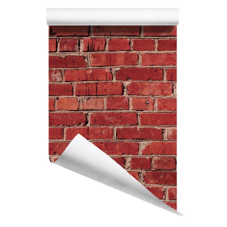 rolled red brick removable wallpaper australia | noplacelike